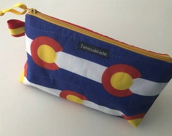 Stand Up Colorado Flag Zip Pouch