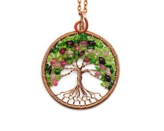 Tree of life necklace 16 pendant tree of life jewely tree of life necklace pendant tree of life jewelry family tree copper aloadofball Gallery