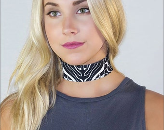 Butterfish Choker: Inspired by underwater creatures created for the bold- Handmade- Authentic design by Alicia/Ellafly
