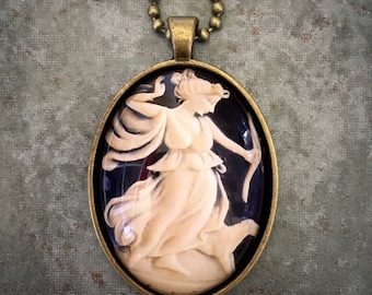 Diana/Artemis with Dog Cameo 30 x 40 Photo Cab Pendant | Made in Melbourne | Australian Seller