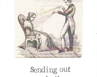 Sending Out Good Vibes Vintage Hypnotism Card | Funny Get Well Soon Weird Psychology Humor Good Luck Cheer Up Thinking Of You