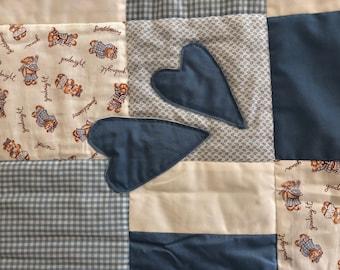 Baby Blanket 2 - Blue Heart