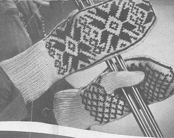 PDF Vintage Ladies Mittens Patterns four patterns - 1 to knit and 3 to crochet 1944 – Instant Download