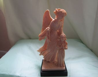 Guardian Angel and Child Statue