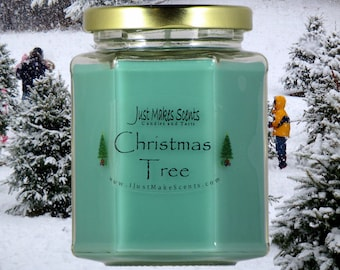Christmas Tree Candle - Blended Soy Candles - Holiday Scent Collection - Homemade Candles - Christmas Gift - Holiday Candle
