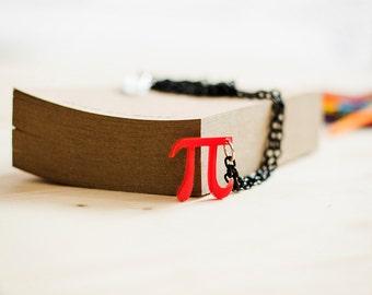 Pi Necklace,Maths Jewelry,Geek Jewelry,Lasercut Acrylic