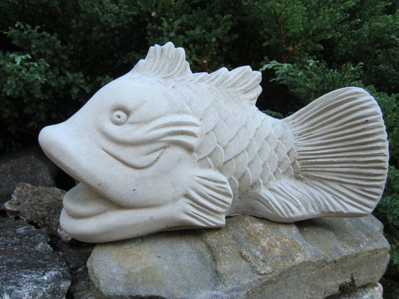 Koi fish statue good fortune symbol feng shui cement figure zoom buycottarizona Gallery
