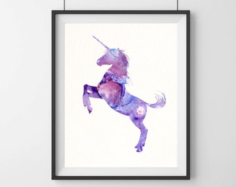 Unicorn art print - pink - unicorn art - girls gift