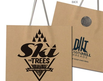 Ski the Trees - Lift Ticket Refrigerator Magnet