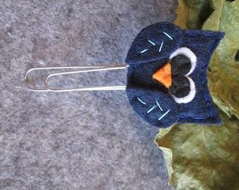Owl paper clip; Felt paper clip; Planner accessories; Owl planner clip; Bookmark; Felt bookmark;  Gift under 5; Stocking stuffers.
