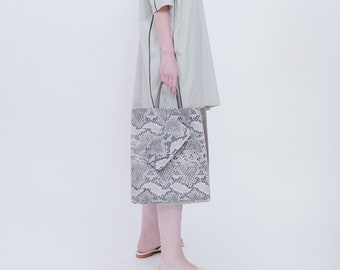 Leather Tote bag, Soft leather tote bag, Office tote Bag, Grey Shoulder Bag, Casual Bag, New Collection!