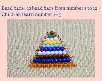 Montessori learning numbers bead bars | learning toy | Montessori materials for Math | Montessori at home | preschooler