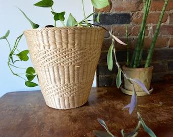 Large Size Light Woven Basket / Planter / Waste Receptacle
