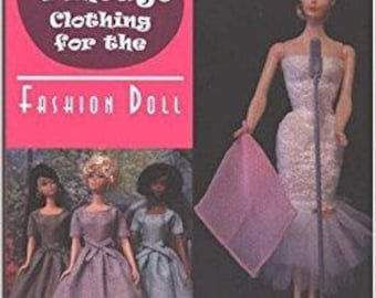 "PDF Instant download  COMPLETE book ""Vintage Clothing for the Fashion Doll"" with patterns for Barbie by Marirose"