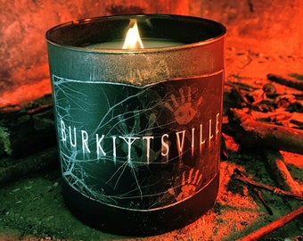 Wood Wick Burkittsville Candle - Choose Your Sick Scent - Horror Candles