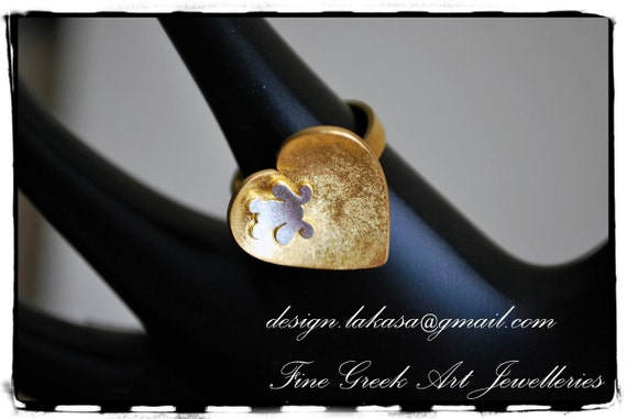 Frog Heart Ring Sterling Silver Gold-plated Lakasa e-shop Jewelry Kiss your Frog Prince My Little Princess Gifts for her birthday best ideas