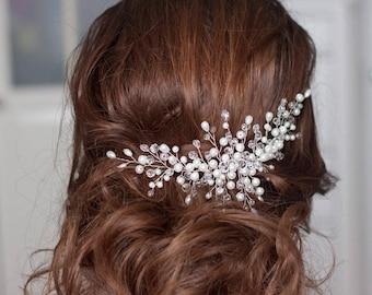 Wedding Hair Piece Bridal headpiece Wedding headpiece Bridal hair piece Pearl headpiece Wedding hair vine Bridal hair vine Ivory headpiece