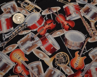 David Textiles fabric MUSICAL INSTRUMENTS