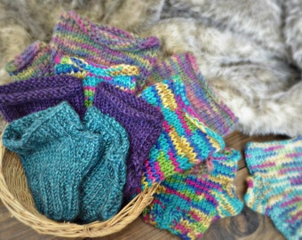 Large Fingerless Mittens