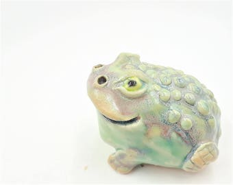 Toad figurine number 2 - porcelain hand sculpt