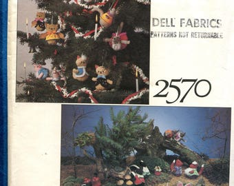 1980's Vogue 2570 Animal Holiday Tree Ornaments Pattern UNCUT