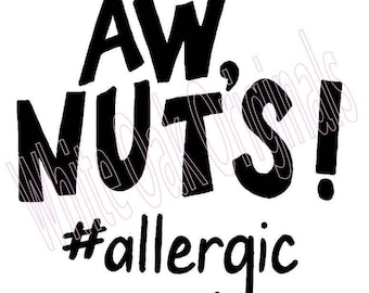 Nut Allergy svg