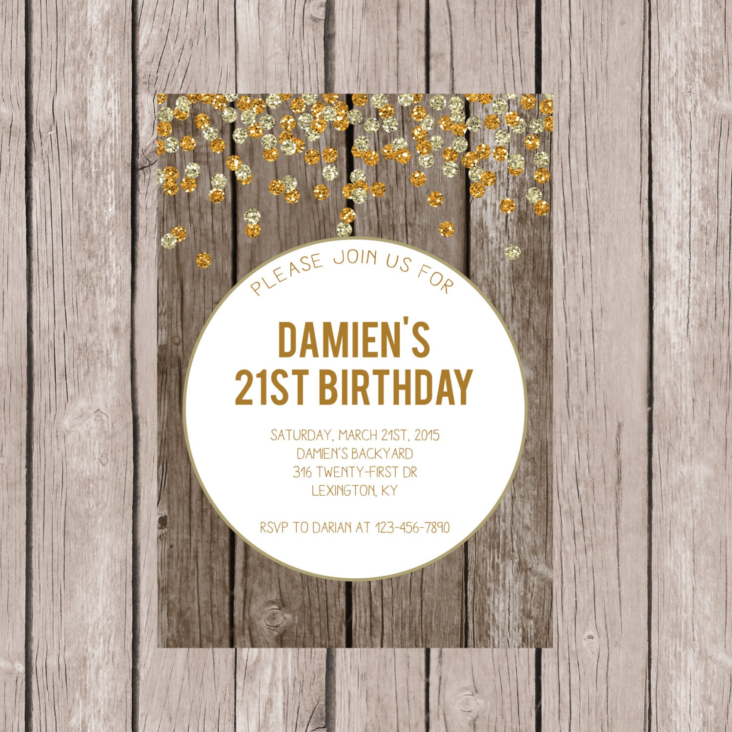 PRINTABLE Twenty-First Birthday Invite Twenty One Birthday