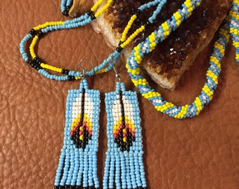 Native American Seed Bead Necklaces & Earrings
