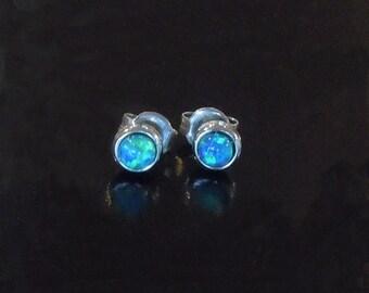Opal Earring in Sterling Silver