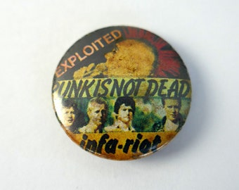 "Exploited/Infa Riot Punk 1"" Pin Back Punk Badge"