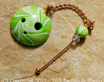 Lime Green Swirl Spinner's DIZ and Threader Set - No 3 - CONCAVE