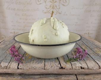 Enamel White bowl , enamel,small celadon bowl, vintage, kitchen, silesia, kitchen, bowl, shabby chic, enamel, enamel bowl
