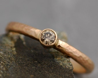 Chocolate Diamond in Solid 14k or 18k Recycled Gold Ring- Made to Order