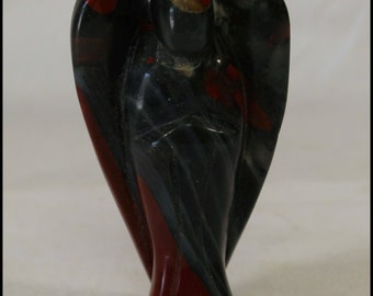 Bloodstone Jasper Angel Carved Angel Gemstone Angel Gifts for Home Gifts for Her Gifts for Friends Birthday Gifts Metaphysical Stones