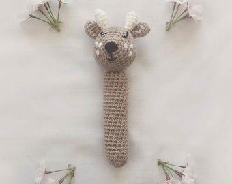 Crochet Amigurumi Woodland Deer Hand Rattle