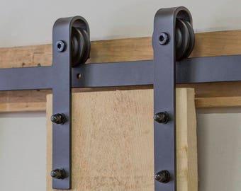 6.6 ft, HK01 Sliding Barn Door Hardware Kit J Shape Hangers