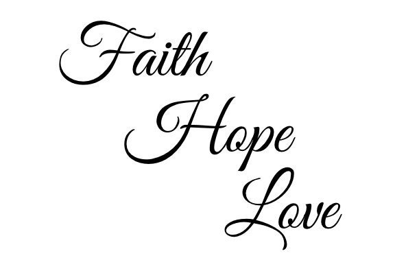 Love Faith Hope Quotes Mesmerizing Faith Hope Love Temporary Tattoo Quote Tattoo Tattoo