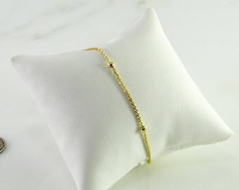 "14K  Gold Petite Bracelet 7 1/2"""