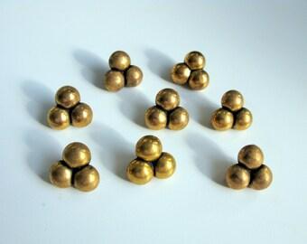 Brass Buttons Vintage Brass Buttons