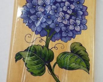 HYDRANGEA flower  Rubber Stamp