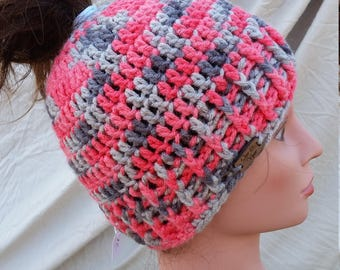 Messy Bun Beanie (multiple color options)