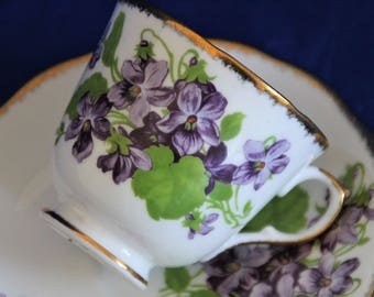 Melba Bone china teacup and saucer F1
