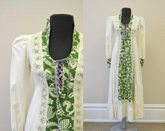 1960s Black Label Gunne Sax Prairie Dress