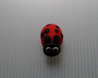 polymer clay ladybug refrigerator magnet