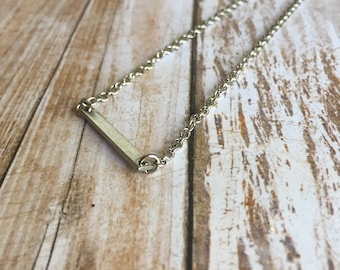 Stainless Steel Bar Necklace - Hypoallergenic - Dainty Necklace - Minimalist Necklace - Simple Necklace - Silver Necklace - Gift for Her
