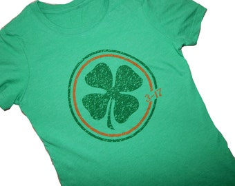 St.Patrick's Day, Shamrock, Next Level T, Original Art, Screen Printed