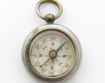 Miniature British Pocket Compass Vintage Compass Fob