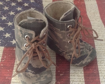 Air Force Baby Combat Boots | Military Camo | Newborn size up to 4T | FREE Shipping in the US