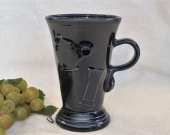 Vintage Fiesta 21 Ounce Cappuccino Mug - Cobalt Blue, Excellent Condition
