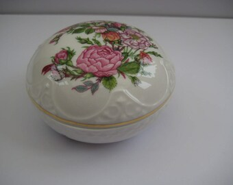 Vintage Aynsley Rose Garden porcelain trinket, made in England